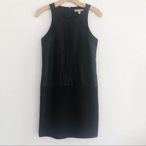 Banana Republic Black Leather Laser-cut  Dress